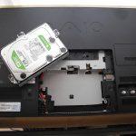 VAIO一体型PC HDD不良のため動作重い